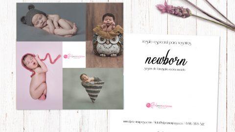 ¿Buscas regalos originales? Tarjeta newborn-recién nacido