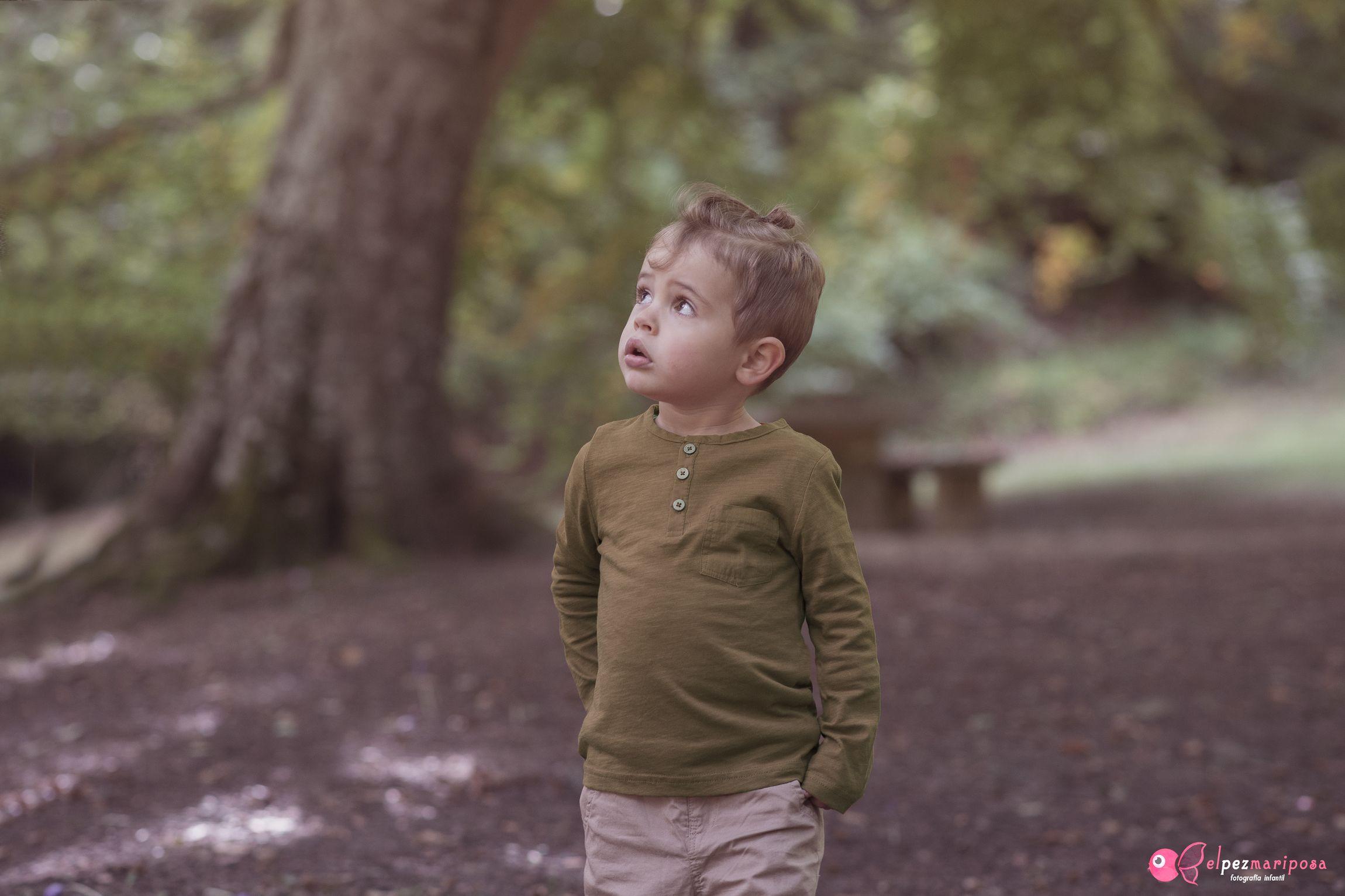 fotografía infantil otoño