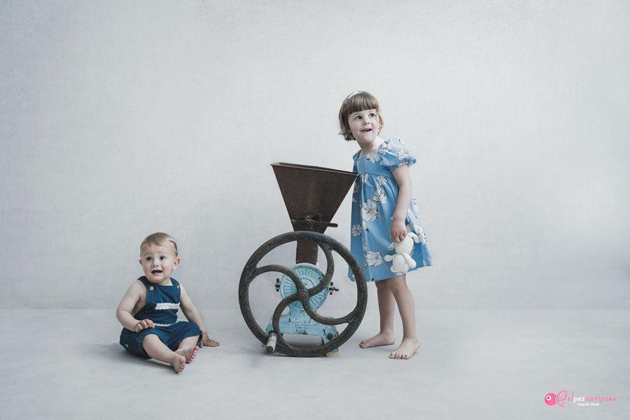 foto estudio infantil hermanos pamplona
