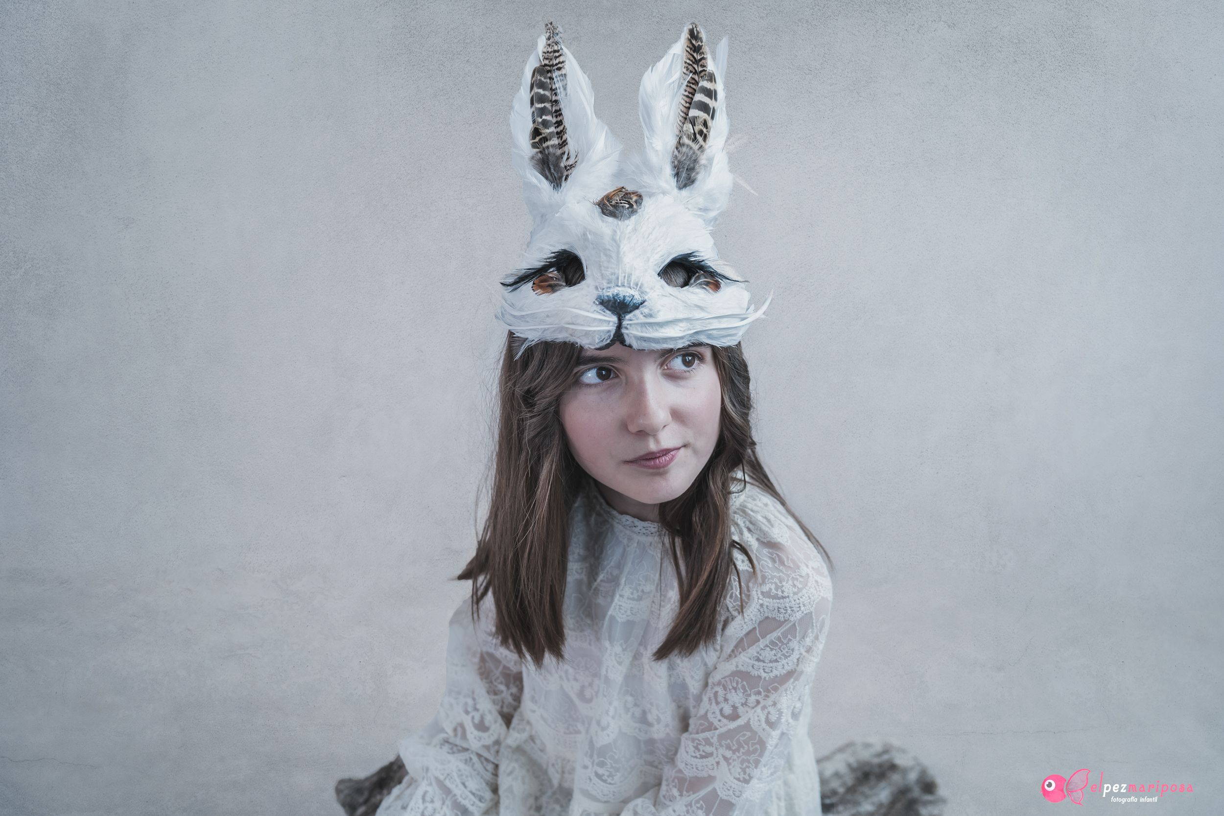 fotografía infantil mascaras